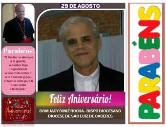 Parabéns ao Nosso Bispo Diocesano Dom Jacy.