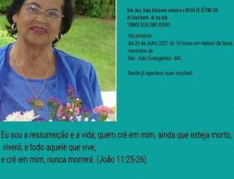 Missa de Sétimo dia do Falecimento da senhora Eunice Silva Diniz Rocha