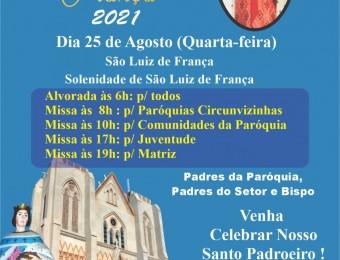FESTA DE SÃO LUIZ 2021
