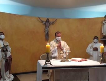 Missa de encerramento das atividades do primeiro semestre no Seminário Maior São José em Várzea Grande.
